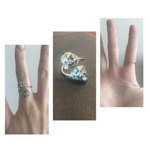 rhinestone panther ring